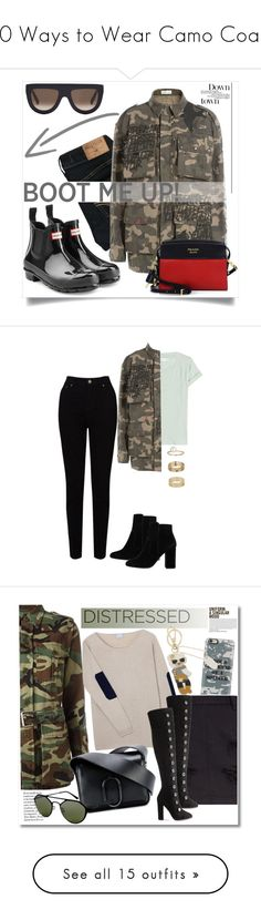 """""""10 Ways to Wear Camo Coats"""" by polyvore-editorial ❤ liked on Polyvore featuring waystowear, camocoats, Hunter, Hollister Co., Faith Connexion, Prada, CÉLINE, EAST, Vince and MANGO"""