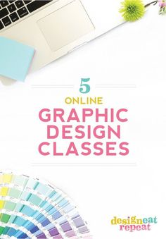 My Top 5 Online Graphic Design Classes - What a great post of 5 Graphic Design Classes you can take online! This post was written by Melissa - Online Graphic Design, Graphic Design Tools, Freelance Graphic Design, Graphic Design Tutorials, Tool Design, Graphic Design Inspiration, What Is Graphic Design, Design Posters, Brand Design
