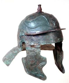 Ancient Roman bronze legionary helmet of Aquincum type, Imperial time period…