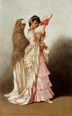 Victor Patricio Landaluze. La mulata. 1881. Lithograph from the series Tipos y costumers de la isla de Cuba.
