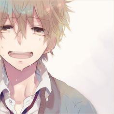 anime happy cry