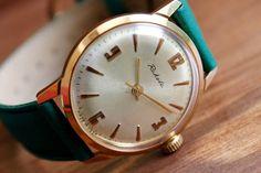 Vintage SOVIET men's watch RAKETA 17jewels 1960's - gold plated, Dress watch, RAKETA Watch, Mechanical watch, Mens vintage watch, Ussr watch
