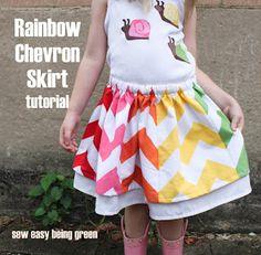 Chevron Rainbow Skirt TUTORIAL!