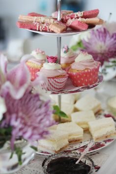 A beautiful & elegant Morning Tea for some friends, and thought I'd do my best to treat everyone in traditional Pretty & Elegant High Tea style with cupcakes, friands, scones and sandwiches.
