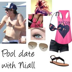 """""""Pool date with Niall"""" by directioner1011 ❤ liked on Polyvore"""