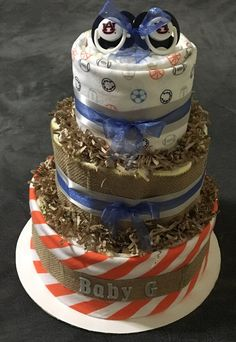 Baby Boy Diaper Cake by RQTcreations on Etsy
