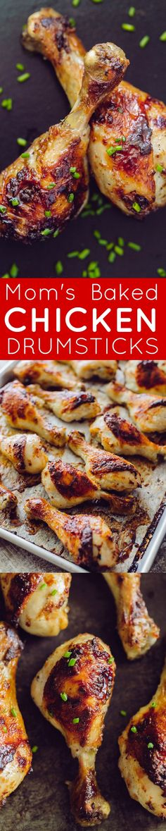Tender, Juicy Baked Chicken Drumsticks With A Crisp, Salty Skin. Marinade Has Only 4 Ingredients. Mother's Method Makes These Chicken Drumsticks Finger-Lickin' Good Turkey Dishes, Turkey Recipes, Meat Recipes, Chicken Recipes, Dinner Recipes, Cooking Recipes, Chicken Ideas, Avocado Recipes, Party Recipes
