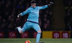 THIBAUT COURTOIS frustrated after Chelsea see European hopes fade with goalless draw at Watford...