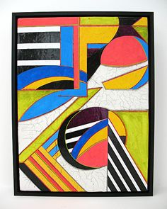 "Return by Michele A Caron gesso, lettering enamel, acrylic  ink ~ 12"" x 9"""