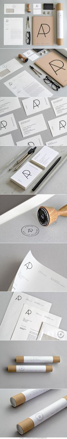 logo corporate branding visual graphic identity kraft paper design business card label black white print sticker minimal stamp