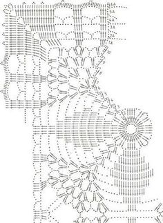 Large Square Motif With Lace - Diy Crafts - Knit & Share Crochet Doily Diagram, Crochet Motif Patterns, Crochet Mandala, Square Patterns, Crochet Chart, Crochet Squares, Thread Crochet, Filet Crochet, Crochet Table Runner