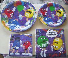M party plates