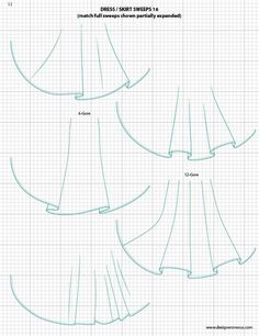 Dress / Skirt Sweeps 1 - Adobe Illustrator Flat Fashion Sketch Templates $49.95 - over 1,300 Mix-&-Match vector fashion technical drawing templates www.mypracticalskills.com #flatsketch #fashionsketch #fashiondesign #fashiontemplates #fashionCAD #fashiondrawing