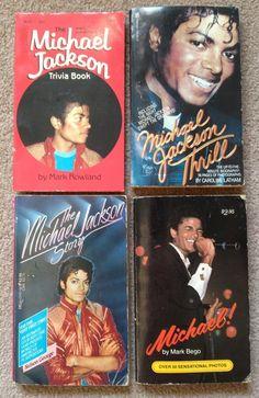 Michael Jackson Vintage Trivia and Biography Books - Set of Four (1984)