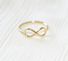Infinity Fashion Ring-Yellow Gold Plated-Size-6
