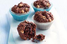 Muffins με τριπλή σοκολάτα