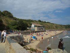 Sunny Sands Beach, Folkestone , Kent, England