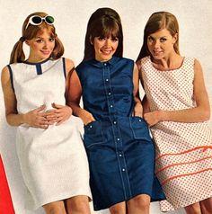 """Summer shift dresses, 1967 """