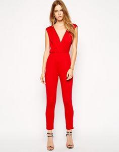 Gorgeous red jumpsuit...
