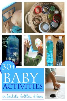 30 One Year Old Activities in Baskets, Bottles, and Bins