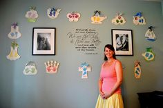 The Beautiful Jamie LeVine standing in front of her main display wall. She  has a huge heart to match her amazing talent.