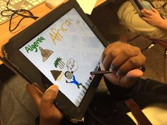 Africa sketchnotes using Discovery Education videos and Flipink app