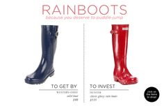 Fashion Essentials Part Two via The Everygirl // RAINBOOTS