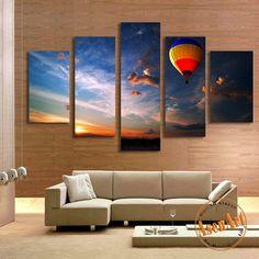 Wall Art Canvas Prints 5 panel desert landscape painting wall art canvas prints wall