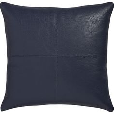 """mac leather 16"""" pillow with down-alternative insert"""