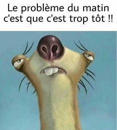 Le #problème du #matin c'est que c'est #trop tôt !!! #lol #mdr #blague #rire #humour #blagues #blaguer #drole #drôle #rigolo #rigoler #marrant