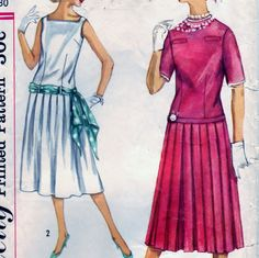 Simplicity Pattern 2363 Jr. Misses' and Teen Age Two-Piece Dress and Sash - Size 10 Bust 30.  #sharpharmade