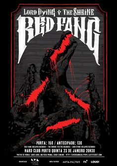 ANOIK for RED FANG + LORD DYING + THE SHRINE