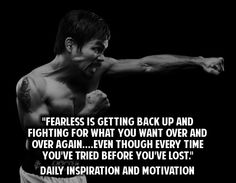 Be Fearless. # Motivation