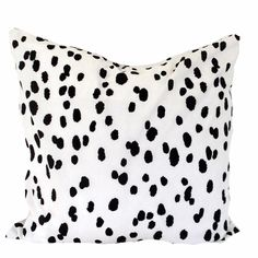 Black Seeing Spots Pillow for the FALL/WINTER Home