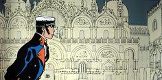 """""""Venedig macht mich träge"""", sagt Corto Maltese ... schön, dass auch Hugo Pratt eine Pinterest-Seite gewidmet ist."""