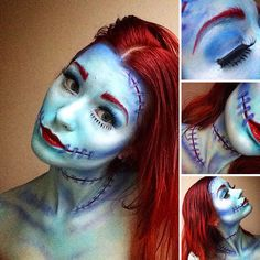 Makeup Artist Has Some Mad Skills Pics) The Nightmare Before Christmas and other make up looks.The Nightmare Before Christmas and other make up looks. Halloween 2017, Holidays Halloween, Halloween Make Up, Halloween Crafts, Halloween Decorations, Halloween Party, Halloween Inspo, Halloween Jack, Halloween Goodies