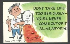 1959 COMIC P.C. MINT BY TONY ROY DONT TAKE LIFE SERIOUSLY
