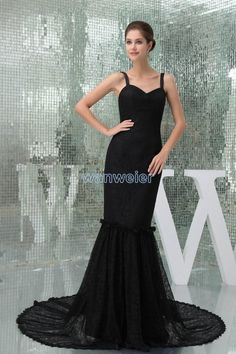 Wholesale Designer Occasion Dresses - Buy 2015 New Sexy Black Lace And Organze Portrait Evening Party Dresses Sweetheart Tulle Floor Length Court Train Prom Gowns, $117.28 | DHgate.com