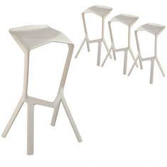 Miura Designer Stool - Konstantin Grcic Reproduction - White - Milan Direct Buy Furniture Online, Home Furniture, Outdoor Furniture, Homewares Online, A Table, Bar Stools, Milan, Dining, Chair