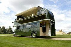 you heard of tiny houses, this may not be so tiny and you get to travel since it is on wheels