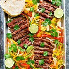http://kirbiecravings.com/2017/01/sheet-pan-steak-fajitas.html