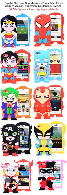 Superheroes iPhone 5 Cases Popular Protective Silicone Case Cover for iPhone 5 5S $4.96