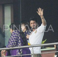 The favorite father-son jodi of Bollywood is back and this time they were at the stands of the IPL match in Kolkata supporting their team, Kolkata Kn...