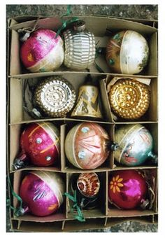 vintage ornaments....brings back so many memories!