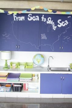 Classroom Makeovers....I love these painted cabinet doors!!! (I could do this…