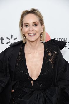 Sharon Stone Photos Photos: Annual Elton John AIDS Foundation Academy Awards Viewing Party Sponsored By IMDb, Neuro Drinks And Walmart - Red Carpet Sharon Stone Photos, Elton John Aids Foundation, Ageless Beauty, Academy Awards, Aging Gracefully, Hollywood California, West Hollywood, Celebs, Celebrities