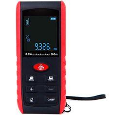 KXL-E100 100M Handheld Digital Laser Distance Meter Rangefinder Diastimeter Angle Distance Area Volume Pythagorean Theorem Measurement