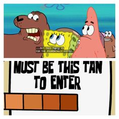 Image result for spongebob tanning scale