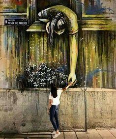 Beautiful Street Art By Multimedia Artist Alice Pasquini : Graffiti Murals Street Art, 3d Street Art, Street Art Graffiti, Street Art Utopia, Urban Street Art, Amazing Street Art, Art Mural, Street Artists, Urban Art