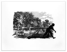 Kara Walker, Banks's Army Leaving Simmsport from Harper's Pictorial History of the Civil War (Annotated)